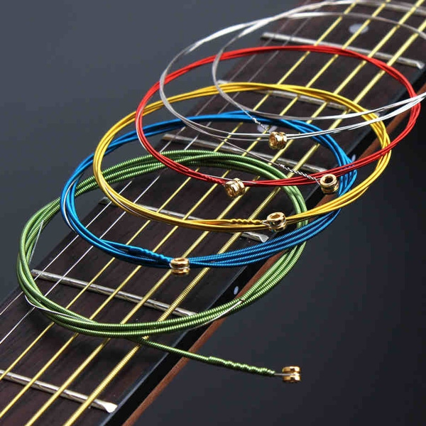 Guitars, Musical Instruments, guitarstring, Colorful