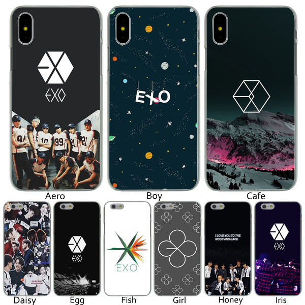 B8 Exo Lucky One Hard Transparent Phone Shell Case For Iphone 8 7 6 6s Plus 5 5s Se 5c 4 4s 10 Cover For Apple Iphone X Xr Xs Max Cases Wish