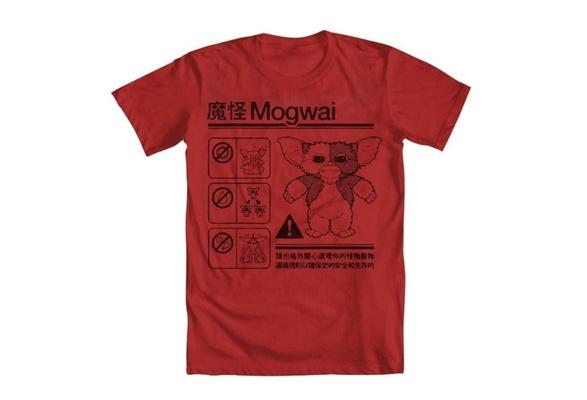 f59467ac wish | men t shirts Gremlins Mogwai Warning Girls' T-Shirt black Cheap  fashion short sleeved T-shirt.