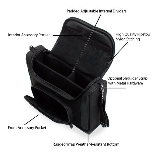Dungeons & Dragons Travel Bag for D&D Character Sheets, Maps, & Dungeon  Master Books - USA Gear S7 Pro Case - Can Securely Hold 3 DnD Books, Dice