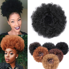 chignonbun, Hair Accessories, hair, afroponytail