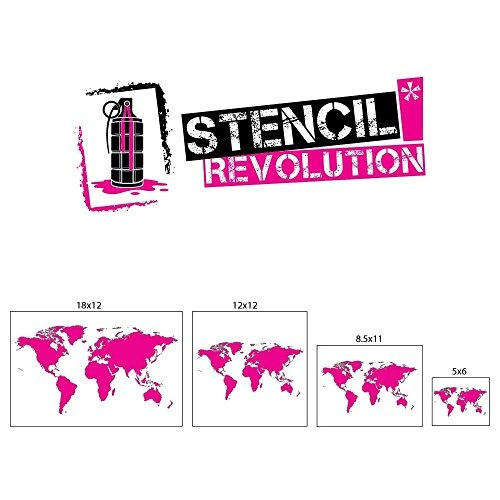 World Map Stencil Template - Laser Cut World Map Stencils - Reusable Mylar  Stencil (5x6)