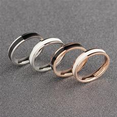 Fashion, Women Ring, gold, whitering