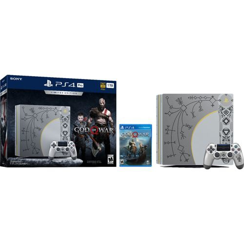 Refurbished Sony 3002212 Playstation 4 Pro 1tb Limited Edition Console God Of War Bundle