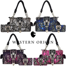 westernstylehandbag, crown, purses, women handbags