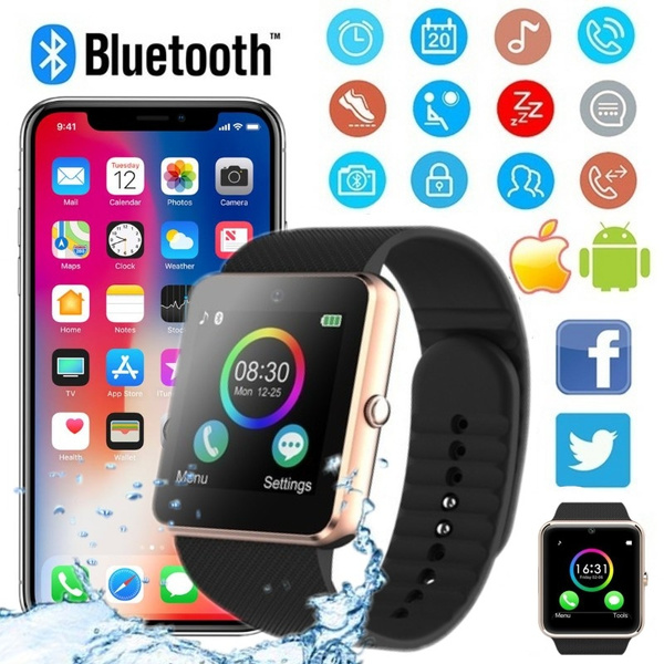 e0a6b158a1e2b2 2018 Couple Smart Watch Multilingual gt08 Bluetooth Smart Watch, Compatible  with Samsung, Xiao Mi Huai, IPHONE, Android, iOS Smartphone iPhone | Wish