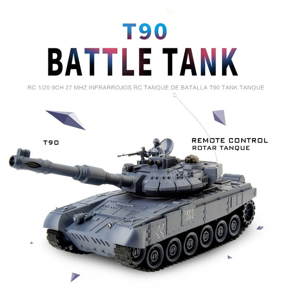 2018 RC Battle Tank T90 Cannon&Emmagee Electric 9CH Rally War RTR Tanks +  Light/Sound