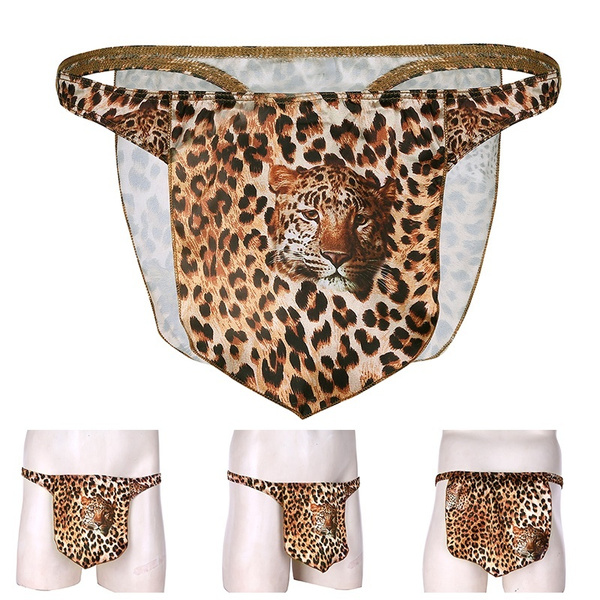 b0495866e34f Men's Leopard Tarzan Loincloth Animal Thong Male Power Underwear | Wish