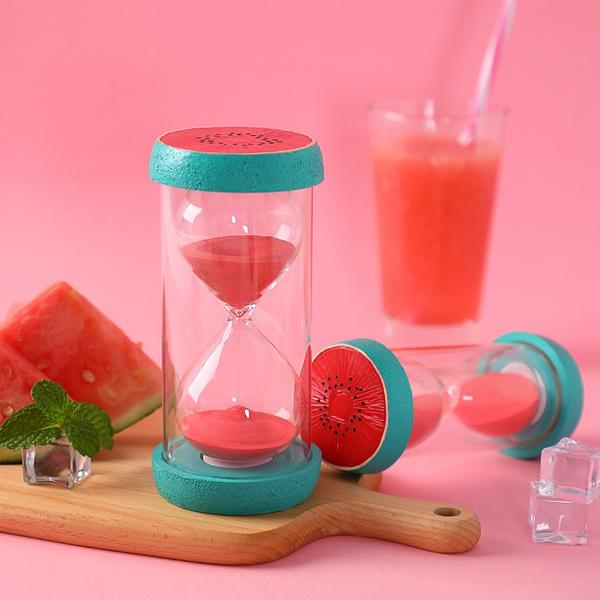 Fruit Shape Colorful Hourglass Sandglass Sand Clock Timers Desktop Watch  Home Office Decor Figurine Hourglass Timer for Children