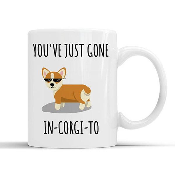 Funny corgi mug, corgi lover gift, dog