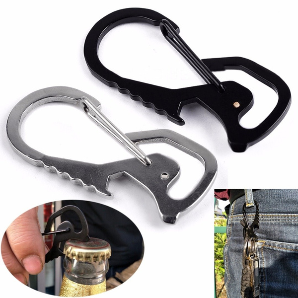 Stainless Steel Climbing Carabiner Key Chain Clip Hook Buckle Keychain Outdoor