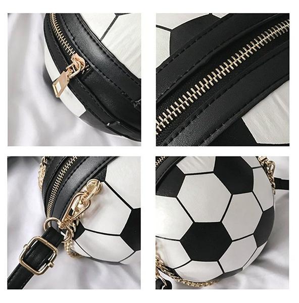 Wish Creative Football Shaped Handbag Clutch Purse Chain Crossbody Bags