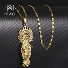 virginmarynecklace, christianjewelry, 18k gold, Christian
