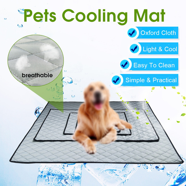 Grey Pets Cooling Mat Non Toxic Cool Gel Pad Bed For Summer Dogs Cat Puppy
