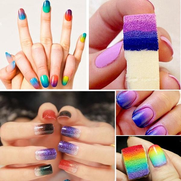 Wish | Gradient Nails Soft Sponges for Color Fade Manicure DIY ...