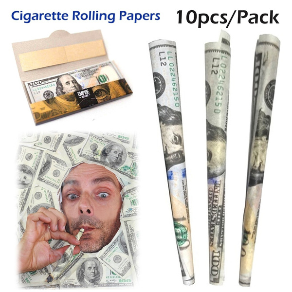 _AYY Hot Sale!! Empire Rolling Papers 10pcs 100 Dollar Bill Rolling Papers