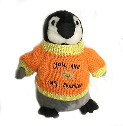 Wish You Are My Sunshine Romantic Valentine Penguin Plush 10 Tall