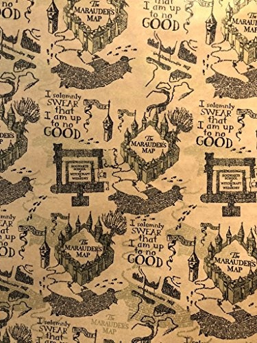 Art, Inc. Harry Potter Wrapping Paper Roll \'Marauders Map\'