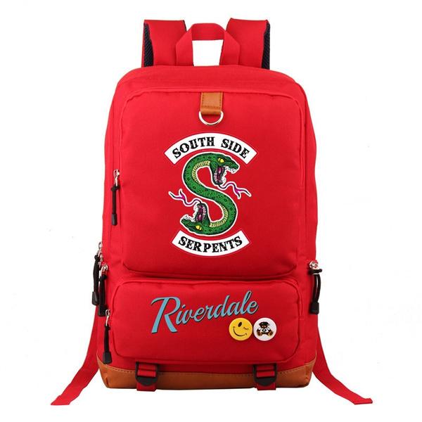 97712cd3f5 Newest Riverdale South Side Serpents Backpack Men Women Casual Laptop Bags  Shoulder Travel School Bag Bookbag ...