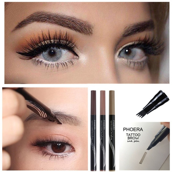 Microblading Eyebrow Tattoo Pen 3 Head Eyebrow Tattoo Pencil Wenkbrauw Pen Waterproof Fork Tip Eyebrow Pen