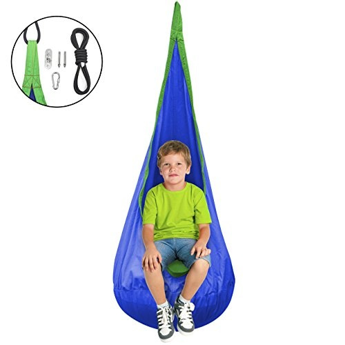 Pleasing Sorbus Kids Child Pod Swing Chair Hanging Seat Hammock Nest For Indoor And Outdoor Use All Accessories Included Camellatalisay Diy Chair Ideas Camellatalisaycom