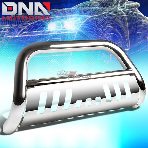 For Chevy Silverado//GMC Sierra GMT800 3 Bumper Push Bull Bar+Removable Skid Plate Black