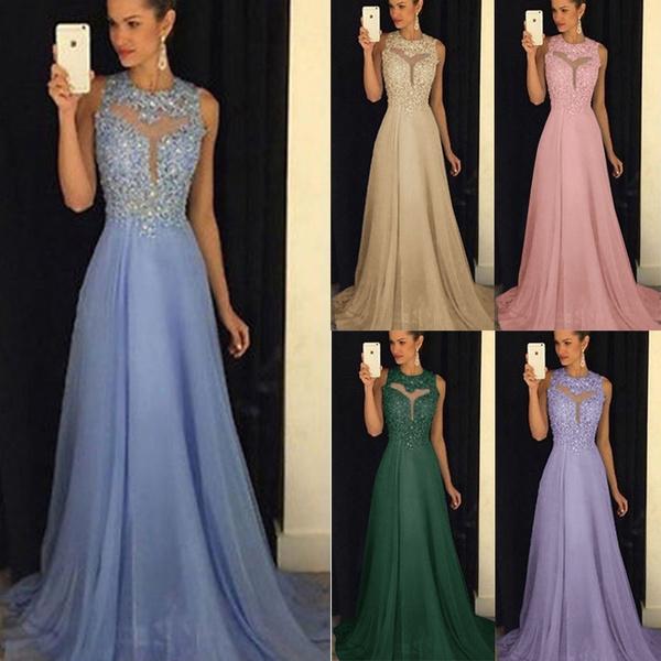 Vestiti Cerimonia Wish.2018 Women S Long Sexy Sequins Lace Hollow Dresses Elegant Waist