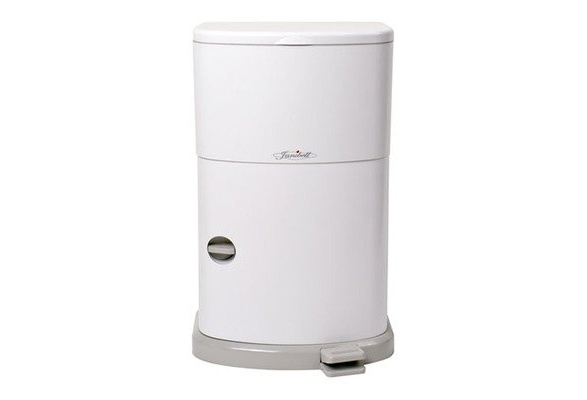 White AKORD Slim Adult Diaper Disposal System JANM280DAEA