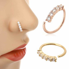 rhinestonenosering, Jewelry, piercingjewelry, nosehoop