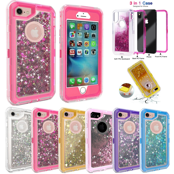 Luxury Bling Case For Iphone 8 Plus 6s Iphone X 10 Glitter Fundas