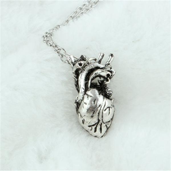 Wish | Fashion Anatomical Heart Necklace Vintage Anatomy Heart ...
