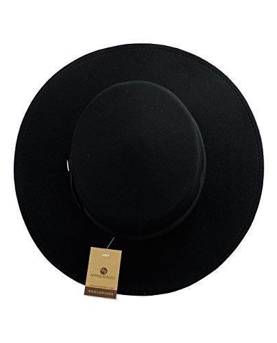 910d6a93b5e2b1 Wish   NYFASHION101 Wool Wide Brim Porkpie Fedora Hat w/Simple Band ...