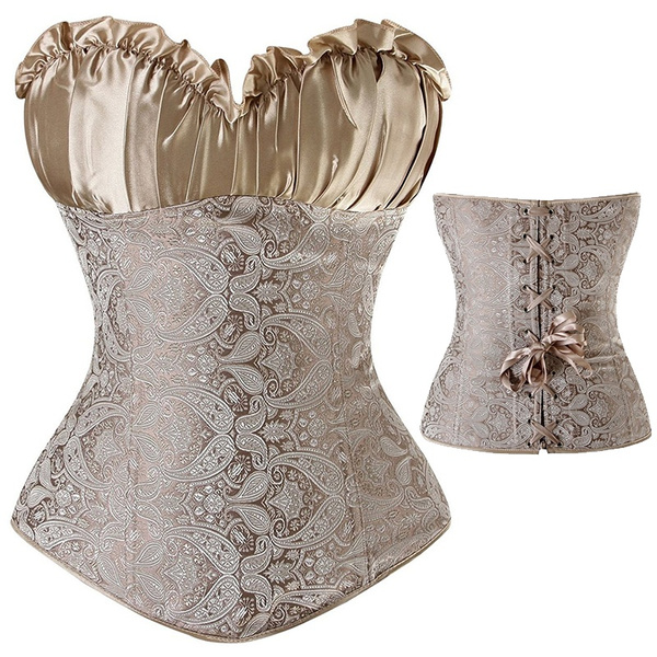 Wish Women S Plus Size Corset Wedding Bridal Satin Lacing Top Y Bustier Waist Training