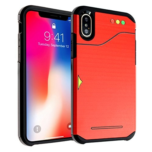 iPhone X Case, DURARMOR iPhone 10 Pokemon Go Pokedex Dual Layer Hybrid  ShockProof Slim Fit Armor Drop Protection Case Cover For iPhone X Pokedex