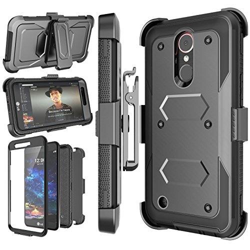 Njjex LG K30 Case, For LG K10 2018 Case/LG Premier Pro LTE/K10 Alpha Case,  [Nbeck] Heavy Duty Built-in Screen Protector Rugged Holster Locking Belt