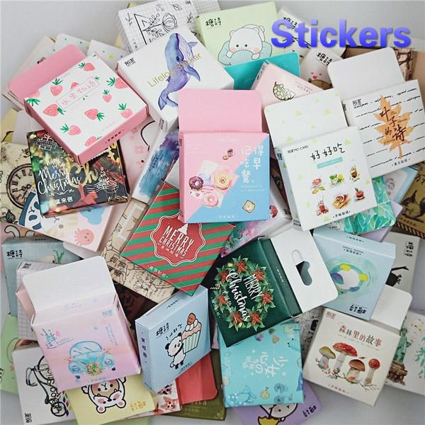 45PCS//box Cute Moon Album Paper Lable Stickers Crafts Scrapbooking Decorative