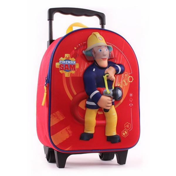 photos officielles 41bc2 81818 Sac à roulettes Sam le pompier Action 31 CM maternelle - Cartable
