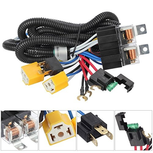toyota pickup wiring harness partsam h4 9003 headlight relay wiring harness kit dual high low 1980 toyota pickup wiring harness partsam h4 9003 headlight relay wiring