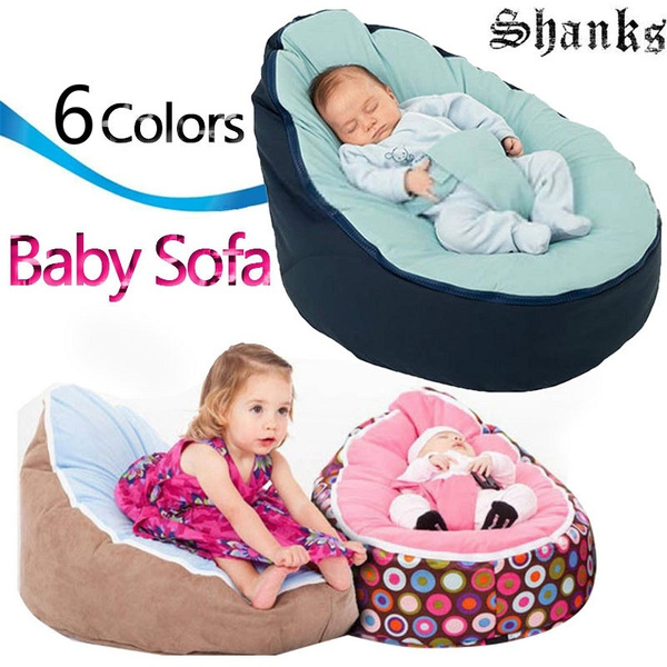 Amazing Canvas Blue Vine Baby Infant Bean Bag Snuggle Bed Portable Seat Without Filling Lazy Sofa Uwap Interior Chair Design Uwaporg