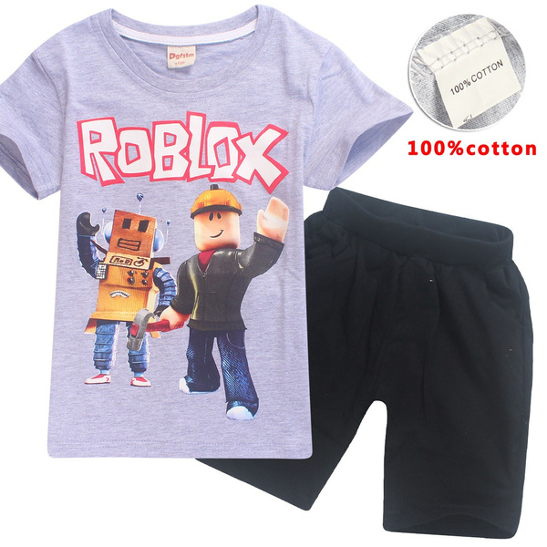 Wish New Fashion High Quality Roblox Kids Clothes Hot Sale