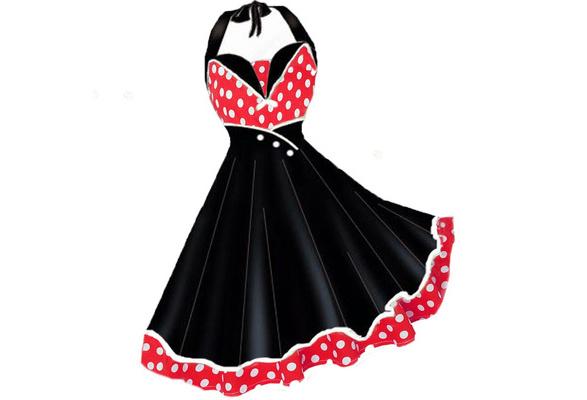 528305785b8 Woman Dress 2018 Summer Halter Vintage Red Black Polka Dot Dress Retro  Cocktail Party 50s 60s Rockabilly Bandage Swing Dresses