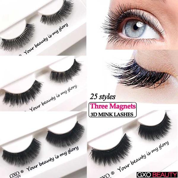 f396413026a GXO BEAUTY 4PCS /Set Magnetic Eyelashes Women Makeup 3D Mink Hair ...