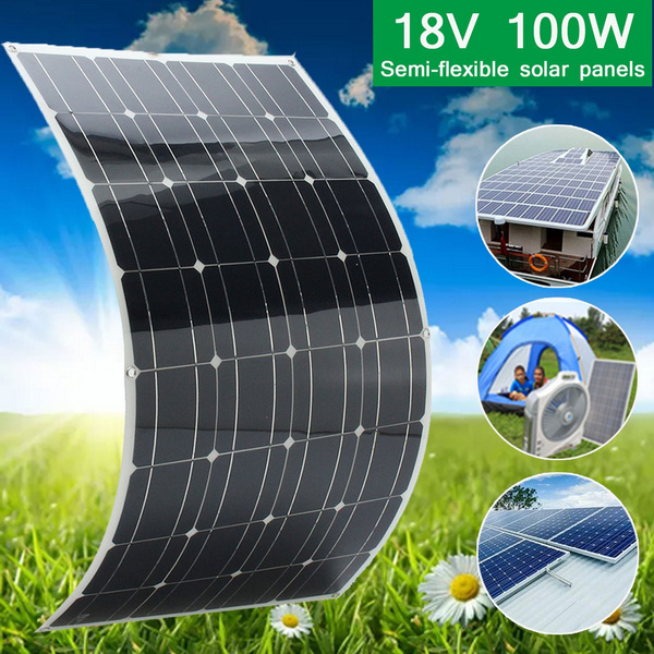 Solarpanel flexible Solarmodul 18V 100W Monokristallin Batterieladegerät
