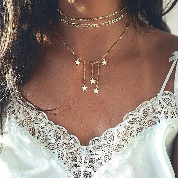 bohemia, lover gifts, gold, flower necklace