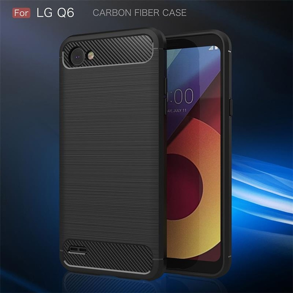 competitive price 952da 28db4 [JUPOW]Luxury Carbon Fiber Case For LG Q6/Q6 plus Case Fashion Ultra Slim  Soft Silicone Gel Protect Cover For LG Q6 Phone Cases