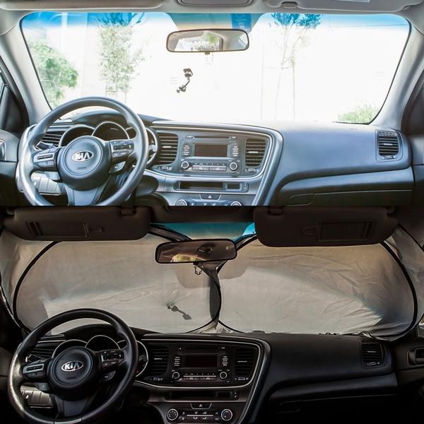 Silver Auto Car Truck Interior Sun Visor Shade Windshield UV Jumbo Block 150X70