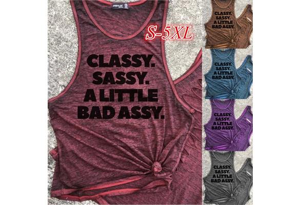Women's Fashion Sleeveless O-neck Letter Print Cotton Tank Top