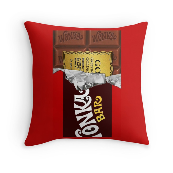 Willy Wonka Chocolate Bar Cover For Imagination Throw Pillow Case Cushion Cover Home Decor