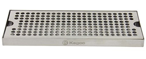 Stainless Steel 12 Kegco KC DP-125 Beer Drip Tray Surface No Drain Mount