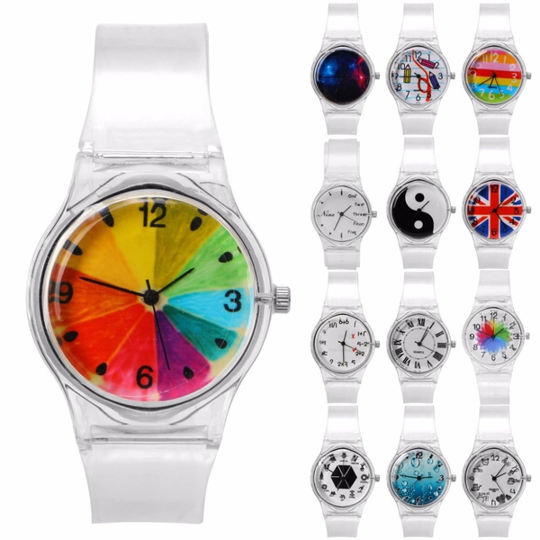Women's Watches New Fashion Silicone Watches Women Sport Casual Quartz Wristwatches Novelty Crystal Ladies Watches Cartoon Reloj Mujer Clock